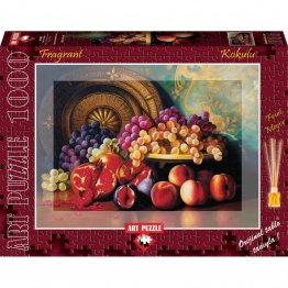 Puzzle 1000 piese - Parfumat - Figs  pomegranates and brass plate