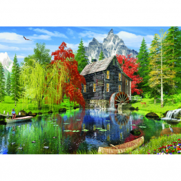 Puzzle 1500 piese - Fishing By The Mill