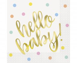Set 16 servetele Hello Baby party 33 x 33 cm