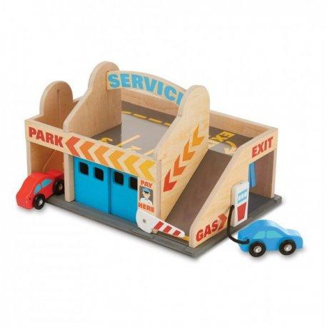 Benzinarie cu garaj Melissa and Doug