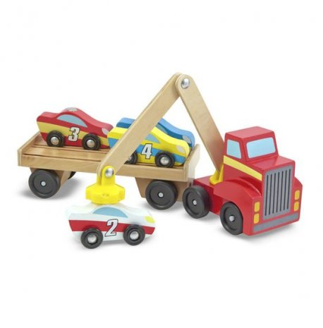 Transportor de masini cu elevator magnetic Melissa and Doug