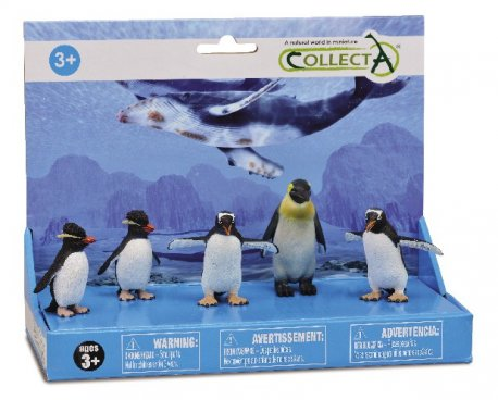 Set 5 figurine Pinguini - Collecta