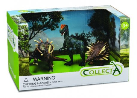 Set 3 figurine Dinozauri pictate manual Collecta