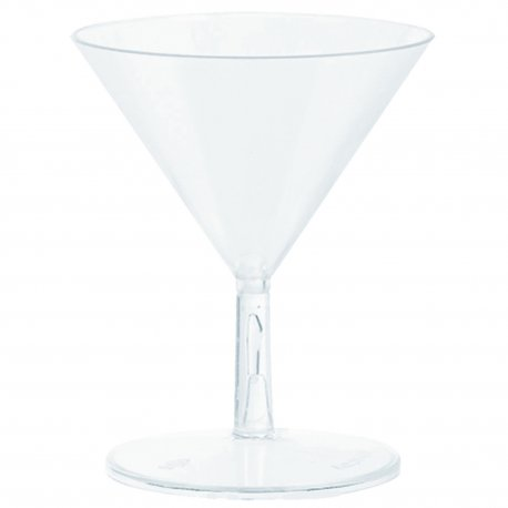 Set 20 mini pahare Martini plastic 59 ml