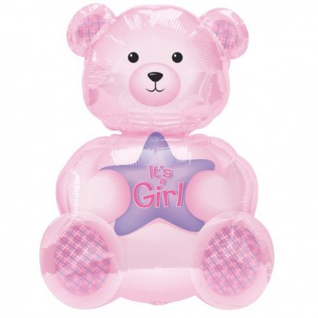 Balon botez Girly Bear - 61cm