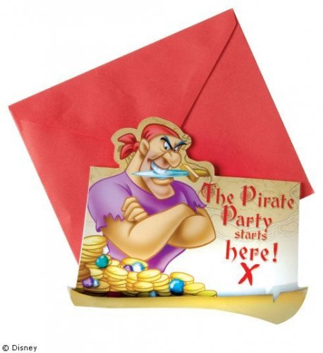 Invitatii Disney Pirates party