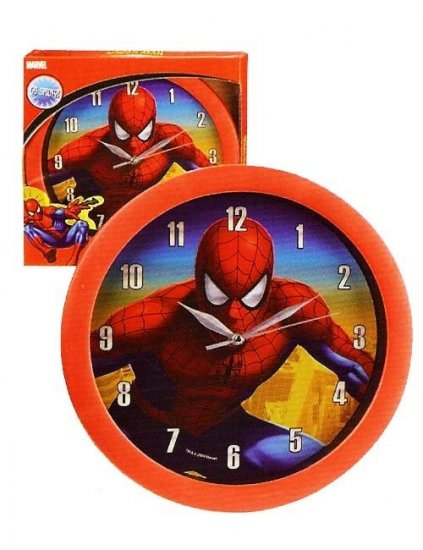 ceas-copii-de-perete-spiderman-red