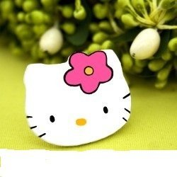 "Marturii de botez- Brose pictate manual ""Hello Kitty Face"""