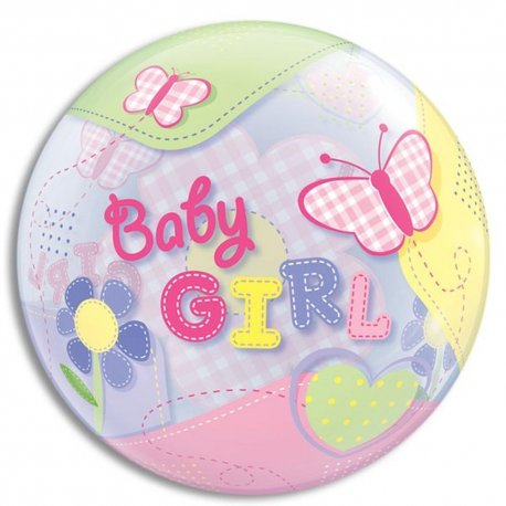 balon-bubble-fluturi-baby-girl-56-cm