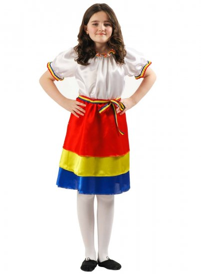 Costum national popular fete tricolor