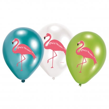 Baloane-latex-colorate-Flamingo-Paradis