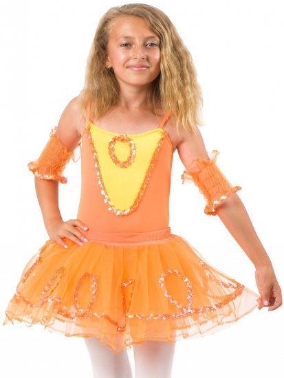 Costum balerina Lily Orange