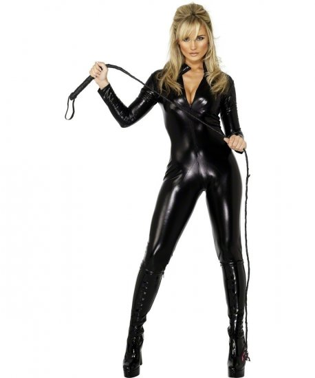 Costum catwoman negru wetlook