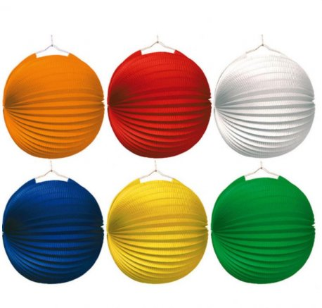 Decor balon acordeon colorat de agatat