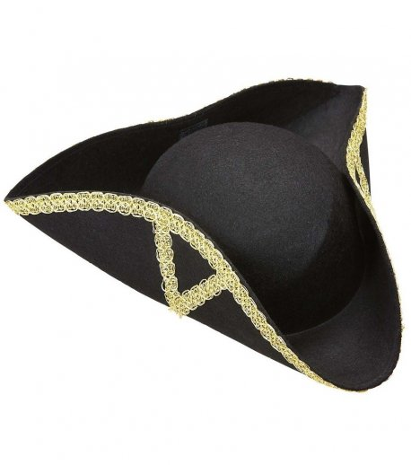 palarie-tricorn-neagra-epoca-decorata