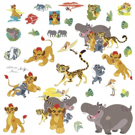 Sticker Personaje LION GUARD | 4 colite de 25,4 cm x 45,7 cm