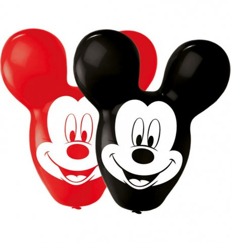 Set 4 baloane jumbo latex in forma de Mickey 55cm