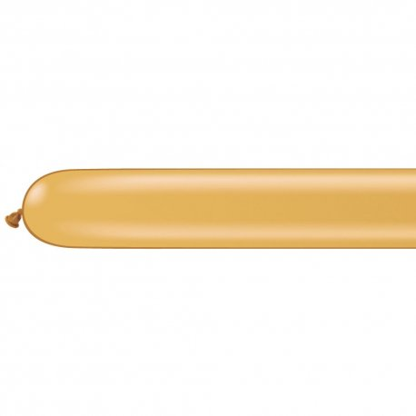 Set 50 baloane latex modelaj Gold, 16 cm x 117 cm