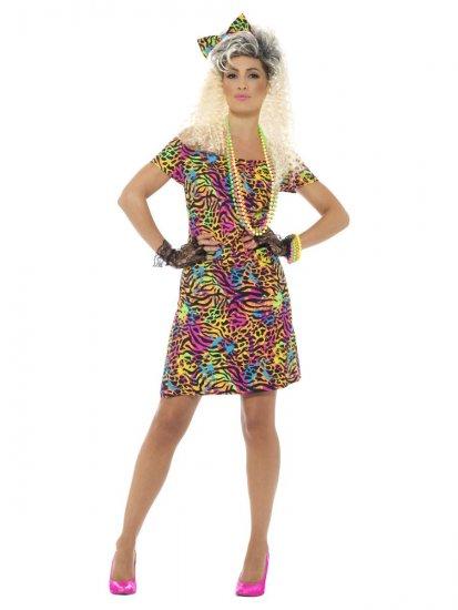 design de top dantela înăuntru stiluri clasice Costum rochie animal print neon cu funda