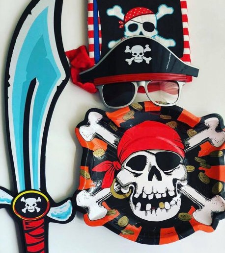 Set 6 farfurii petrecere Pirate Party - Jolly Roger