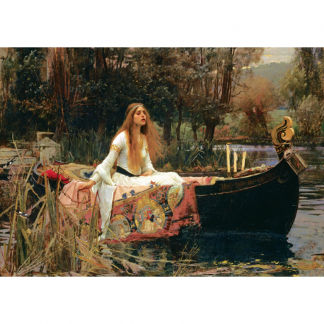 Puzzle 2000 piese - The Lady Of Shalott, 1888