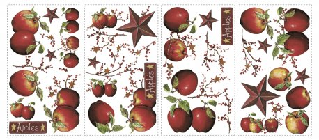 Sticker decorativ COUNTRY APPLES | 4 colite de 25,4 cm x 45,7 cm