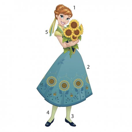Sticker gigant Anna - FROZEN FEVER | 46 cm x 102 cm
