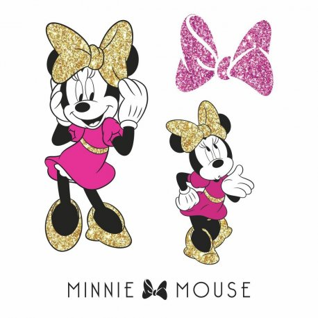Sticker MINNIE MOUSE cu sclipici | 2 colite de 22,9 cm x 44,1 cm