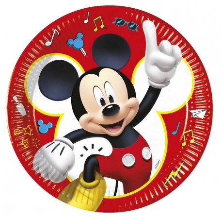 Farfurii petrecere copii 23 cm - Mickey Mouse Pals at Play