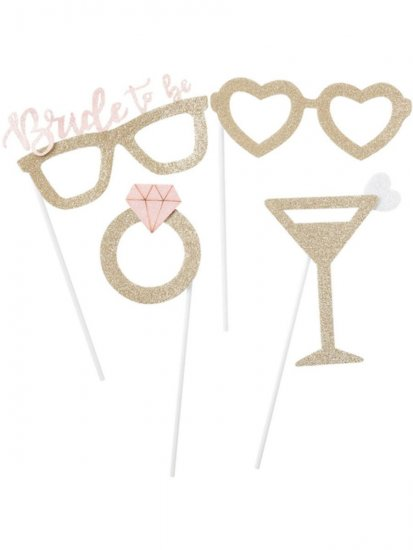 set-4-accesorii-recuzita-glitter-bride-to-be-gold